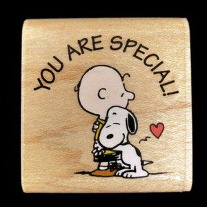 Snoopy Peanuts You Are Special Rubber Stampede